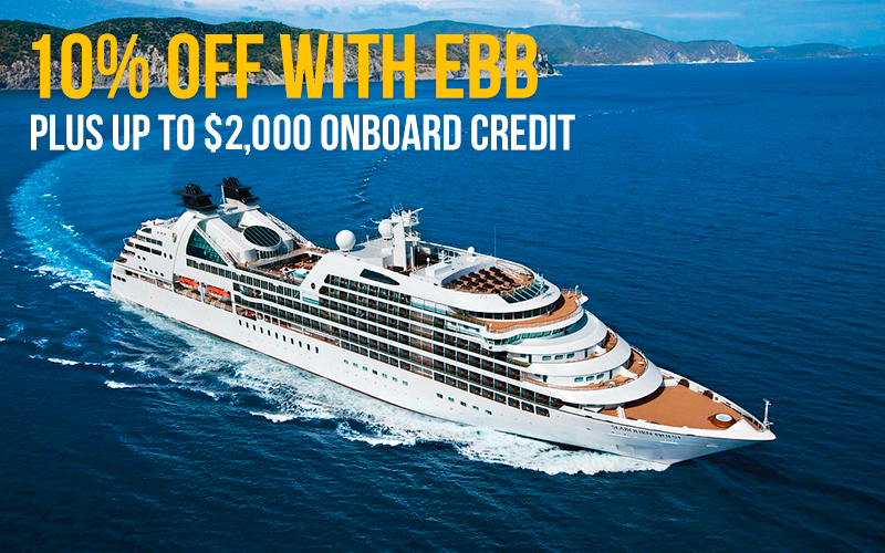 10% Off with Early Booking Bonus plus up to $2,000 onboard credit