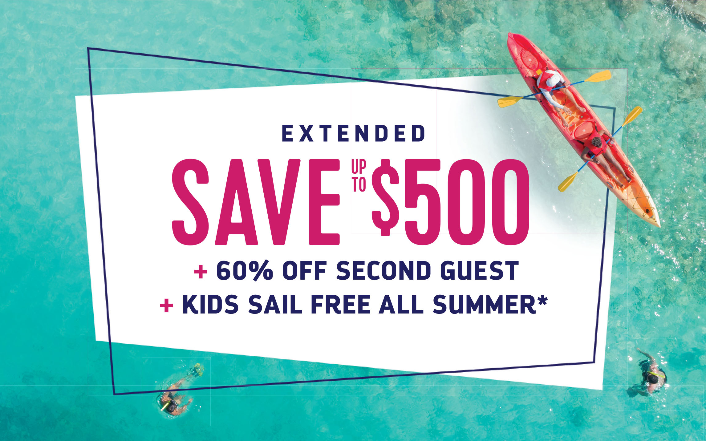 60% off Second Guest + Kids Sail Free + $500 off