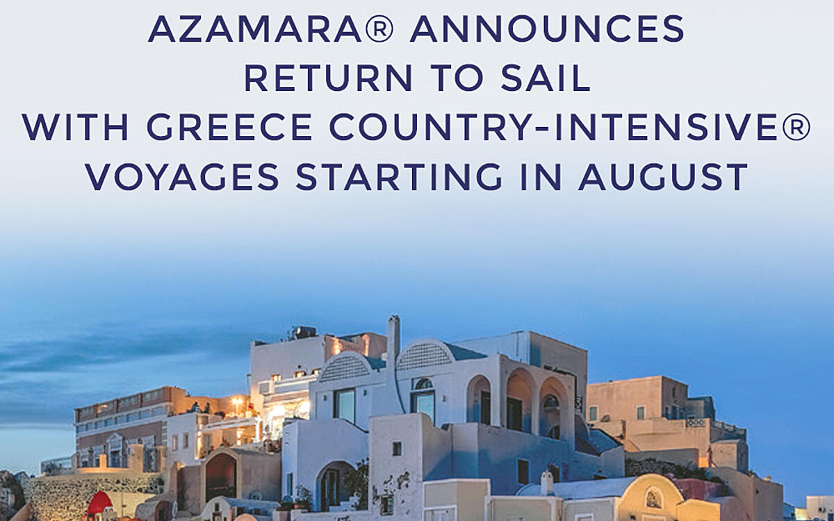 Azamara is coming back stronger than ever with NEW 2021 Greece Intensive Sailings