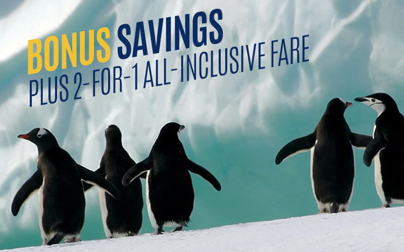Bonus Savings plus 2-For-1 All-inclusive fare