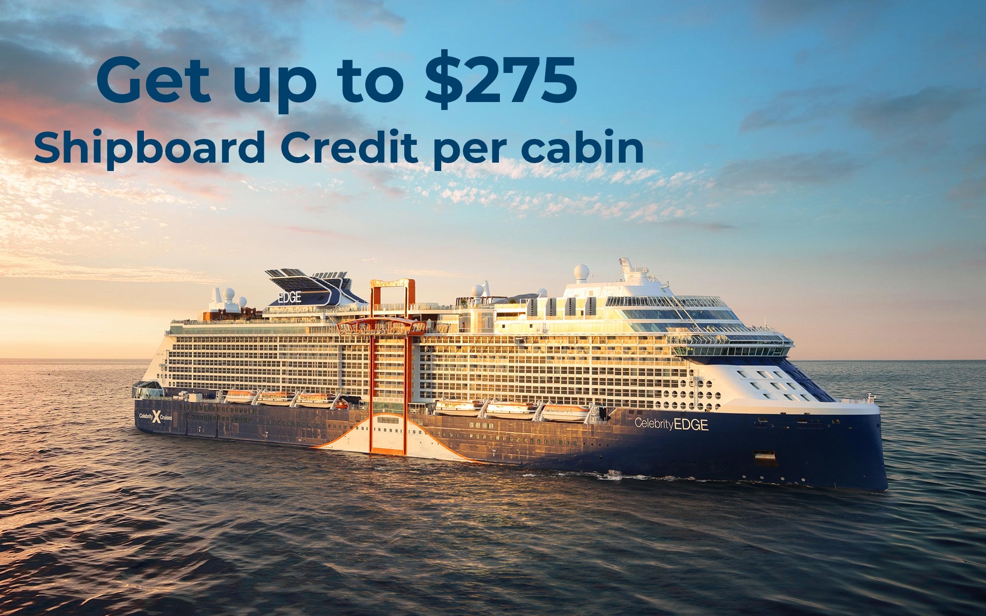 Book a trip with your family and Get up to $275 Shipboard Credit when you book 6 cabins or more!