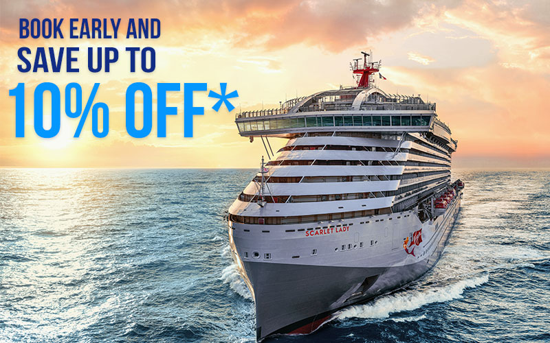 Book early and Save up to 10% off* with Virgin