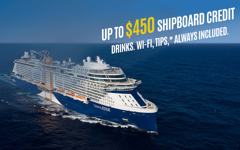 Book your Caribbean Cruises and get up to $450 Shipboard Credit, Drinks. Wi-Fi, Tips,* Always Included.