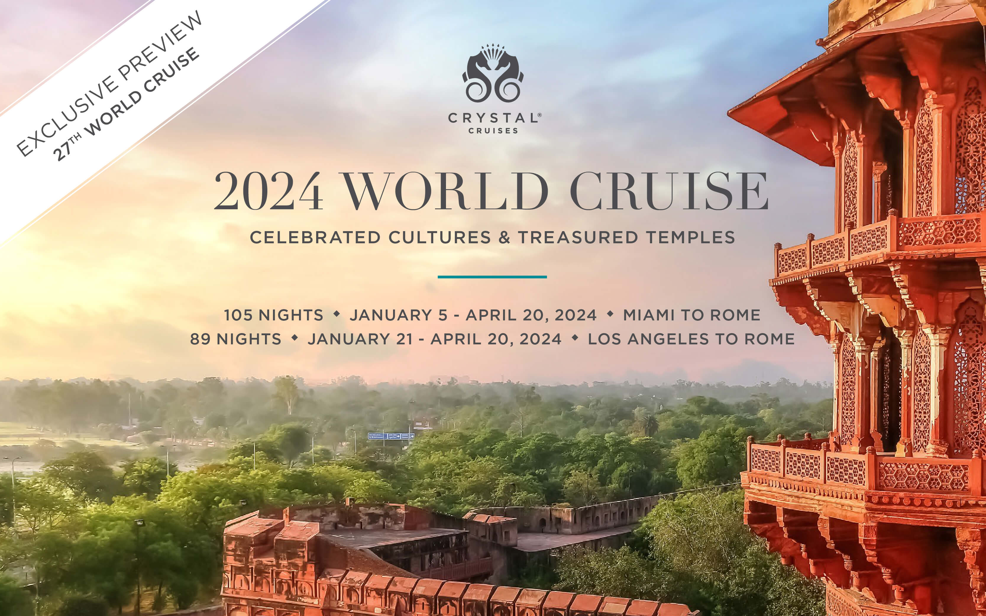 Crystal 2024 World Cruise