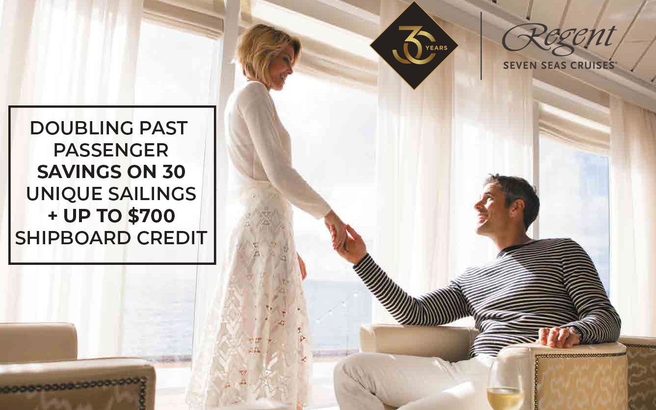 Doubling past passenger savings on 30 Unique Sailings + Up to $700 Shipboard Credit