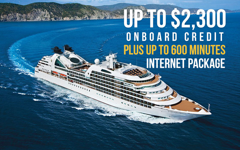 Enjoy up to $2,300* onboard credit, and Up to 600 Minutes Internet Package