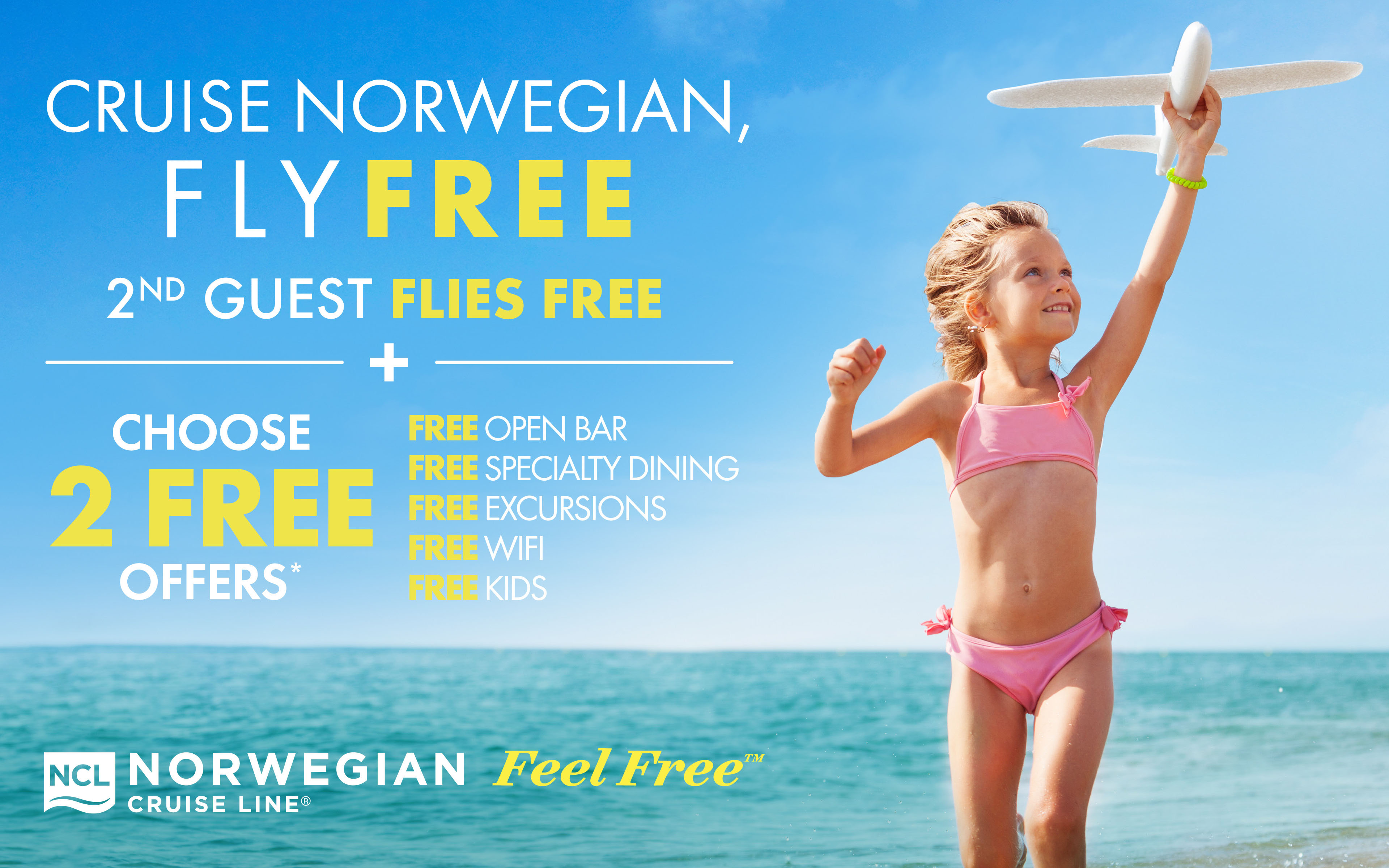 Fly FREE + Choose 2 FREE Offers with Norwegian