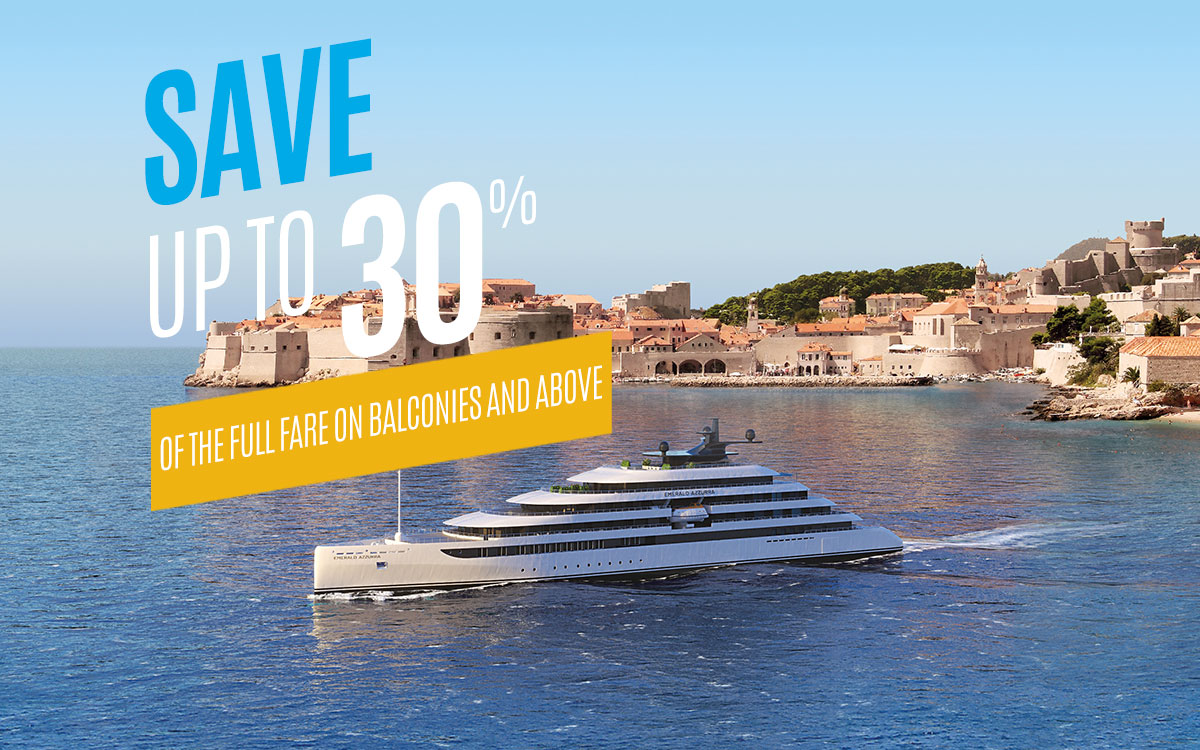 For a limited time, Save Up to 30% of the full fare on Balconies and above
