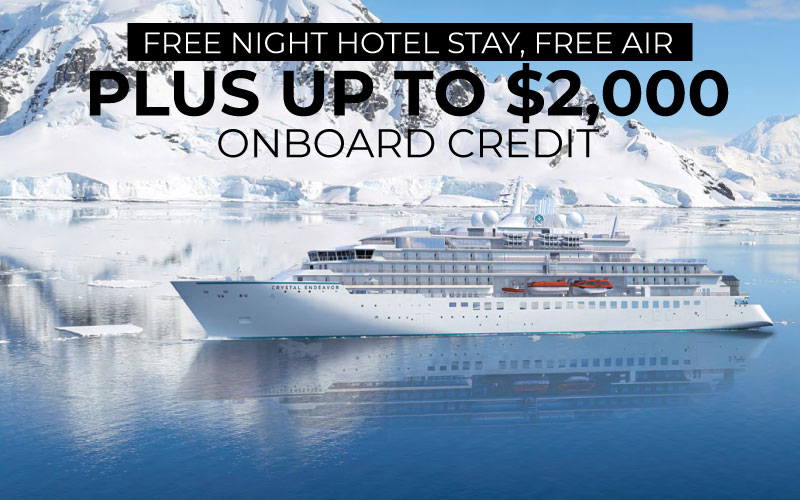 FREE Night Pre-Cruise Hotel Stay, FREE Roundtrip Air, plus Enjoy up to $2,000 onboard credit