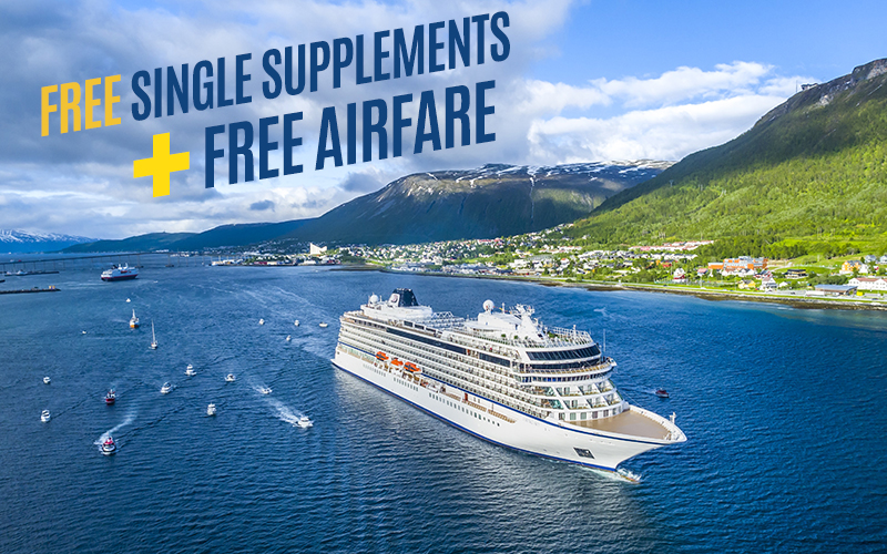 FREE Single Supplements + FREE Airfare on select itineraries*
