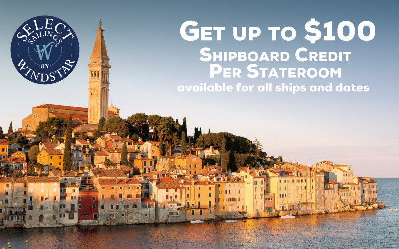 Get up to $100 Shipboard Credit Per Stateroom available for all ships and dates