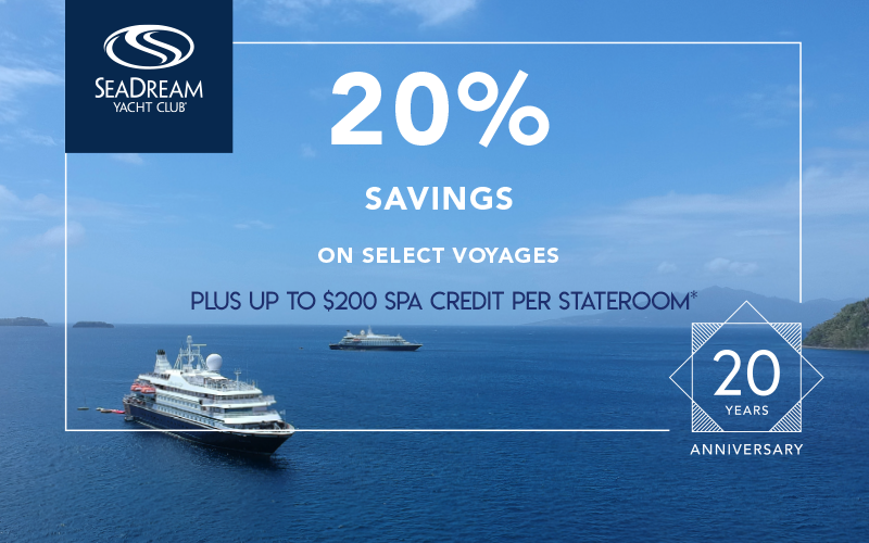 Get Up To 20% Savings Plus Up To $200 Spa Credit Per Stateroom