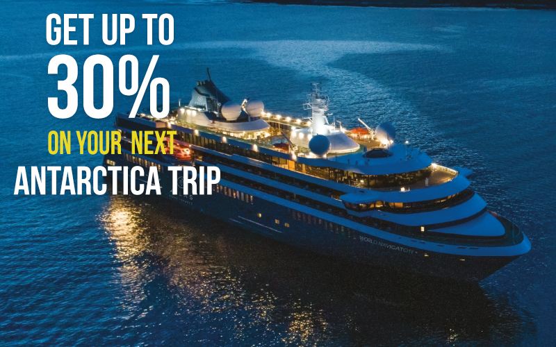 Get up to 30% Off* on your Next Antarctica Trip with Atlas Ocean Voyages