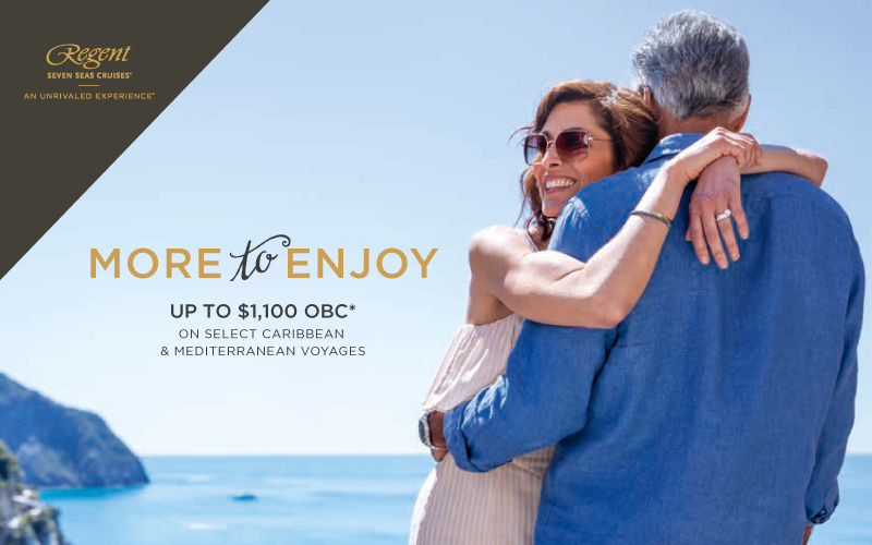 More to Enjoy - Book now to get our exclusive up to $1,100 Shipboard Credit