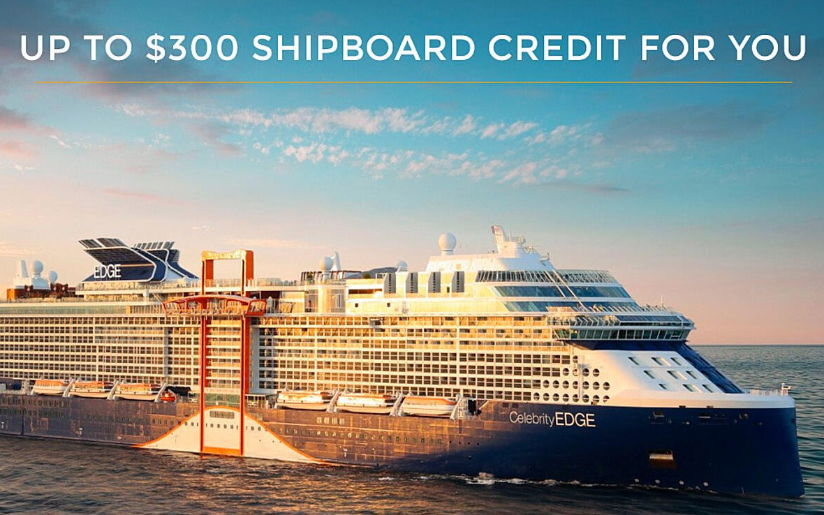 Receive an additional up to $300 Shipboard Credit for your next Celebrity's Retreat Booking