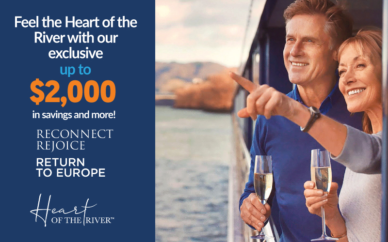 Return to Europe this season and enjoy up to $2,000 + FREE Air* + up to $300 Onboard credit