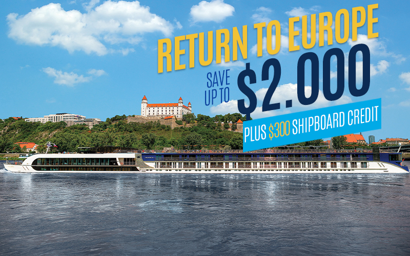 Return to Europe with AmaWaterways* - Save up to $2,000 per stateroom*, plus Up to $300 Shipboard Credit*