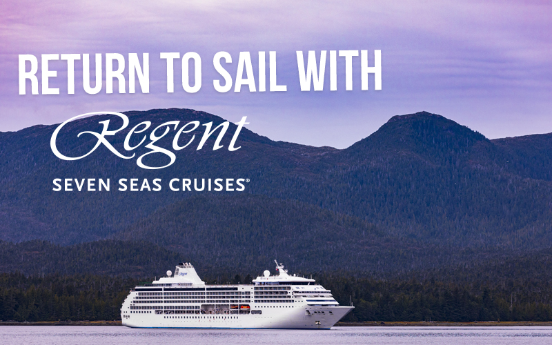 Return to Sail with Regent Seven Seas - Get Bonus Savings, Free Business Class Air on Suites, and more!   As part of our all-inclusive experience, this voyage features FREE BUSINESS CLASS AIR* in all suite categories.