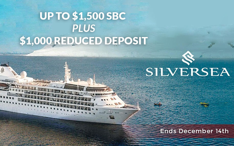 Silversea Sale - Up to $1,500 SBC + $1,000 Reduced Deposit