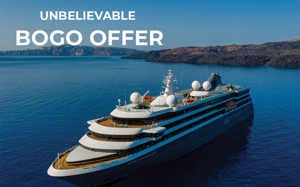 Unbelievable BOGO offer - Limited Space and quantity on the Mediterranean with Atlas Voyages