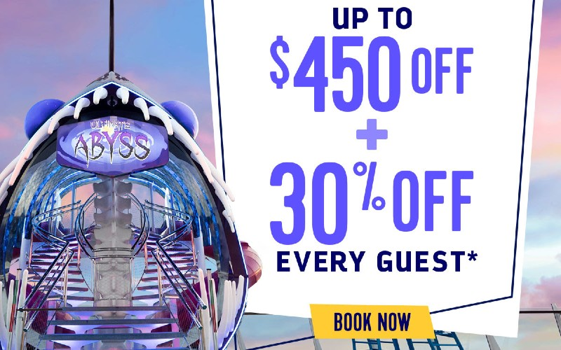 Up to $450 OFF Plus 30% every guest* Royal Caribbean