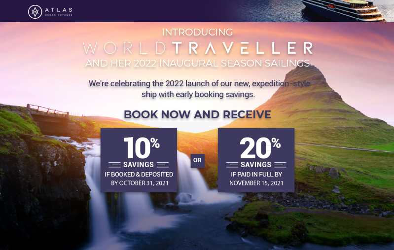 Welcome 2022 with luxe-adventure voyages and get FREE Air + up to 20%