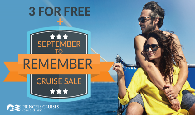 3 for FREE + September to Remember Cruise Sale