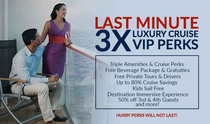 3X Amenities and Cruise Perks on all 2018 Sailings