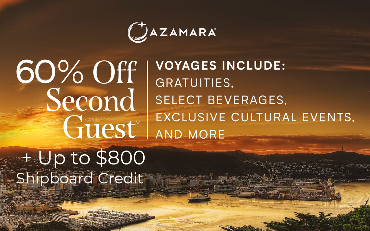 60% Off second Guest + up to $800 Shipboard Credit