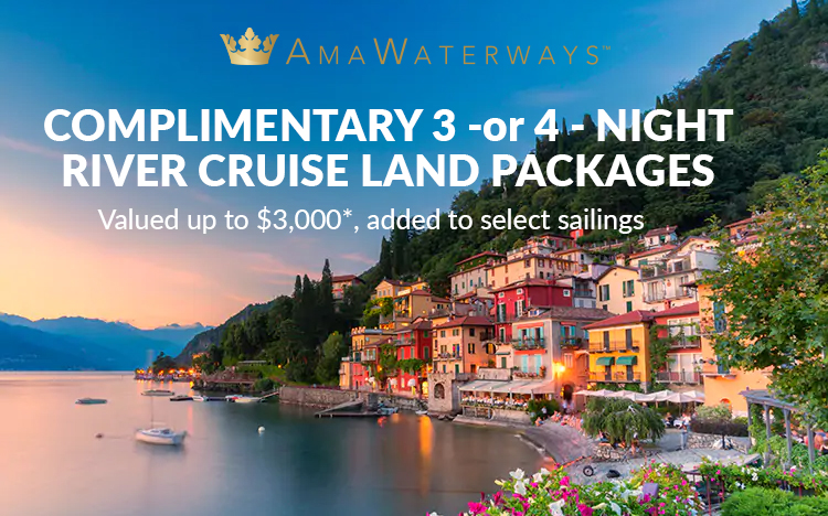 AmaWaterways - COMPLIMENTARY Pre- and Post-River Cruise Land Packages  Valued up to $3,000*