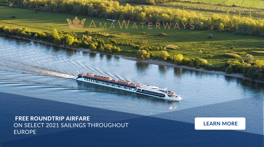 AmaWaterways - FREE ROUNDTRIP AIRFARE On select 2021 sailings throughout Europe