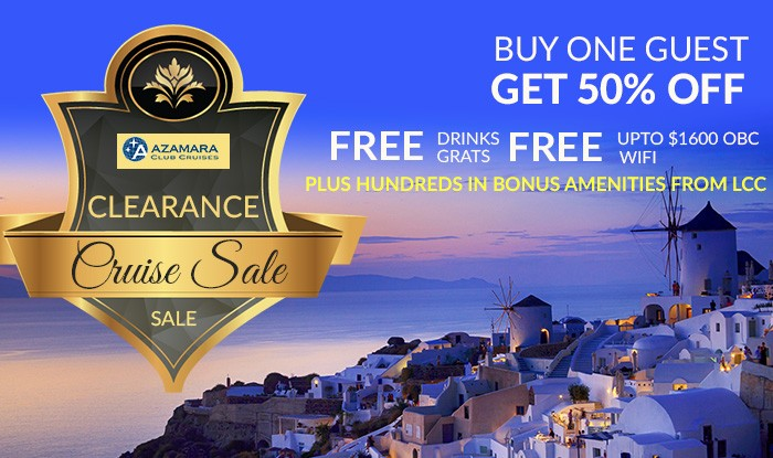 Amazing Azamara Cruise Sale - Huge Clearance on all 2017 itineraries!