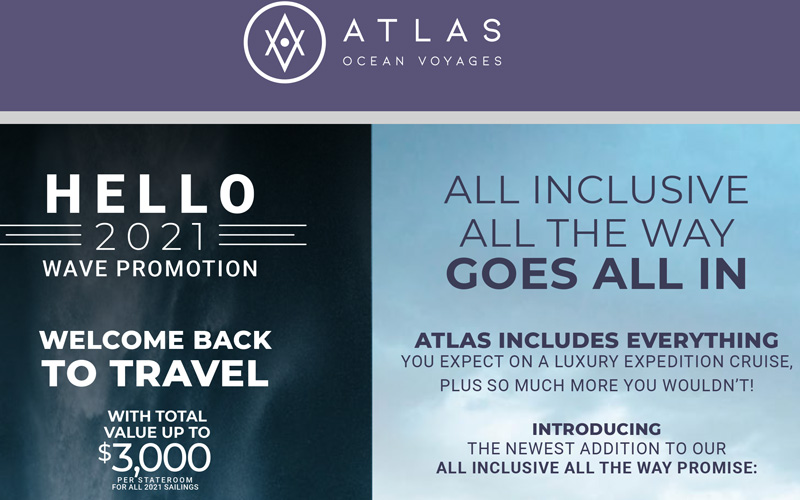Atlas Voyages - Welcome back to Travel with a Value up to $3,000*