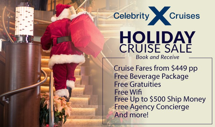 Celebrate the Holidays on a Celebrity Cruise!