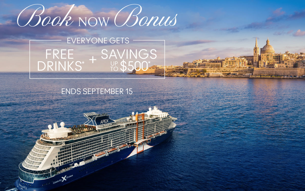 Celebrity - Book Now Bonus