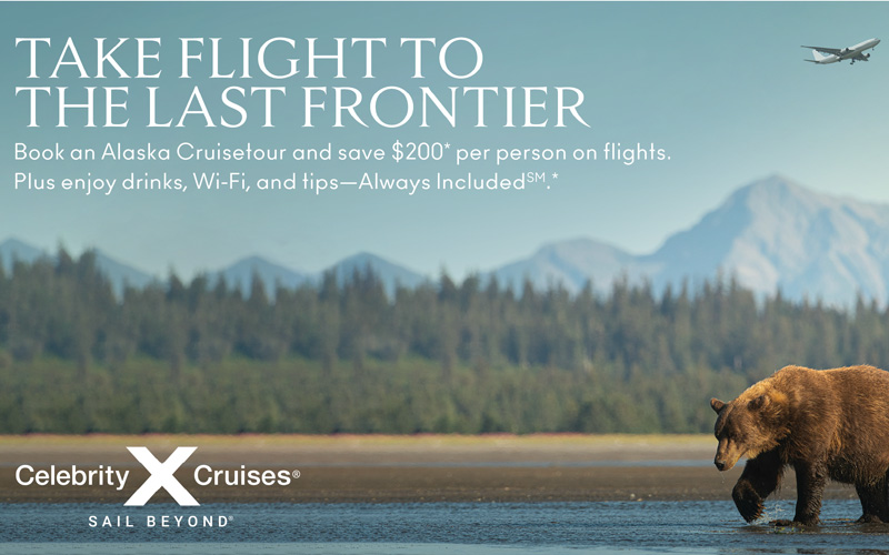 Celebrity Cruises - Book an Alaska Cruisetour and Save $200* per person on flights