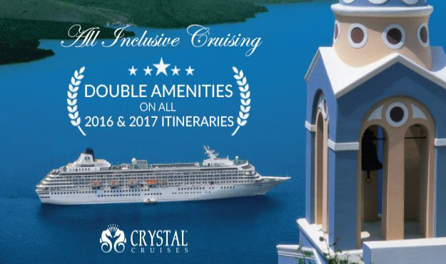 Crystal Cruises - Double Up on Amenities NOW!