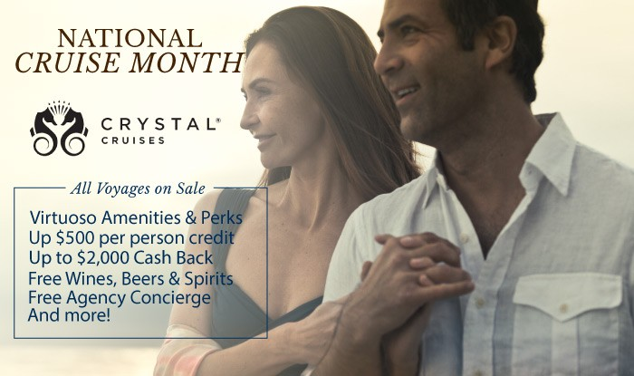 Crystal Cruises National Cruise Month Sale