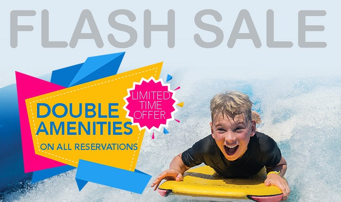 DOUBLE AMENITIES FLASH CRUISE SALE