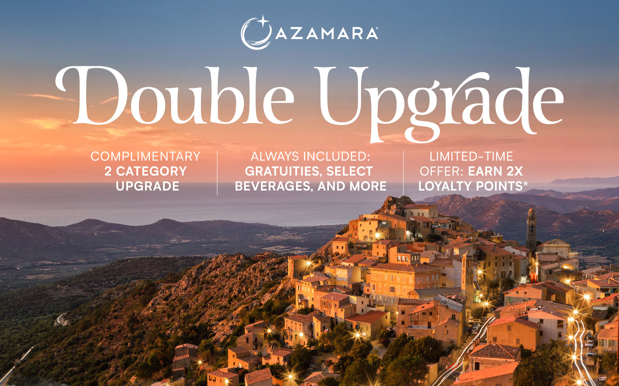 Azamara Double Upgrade + Gratuities + Up to to $300 Shipboard Credit