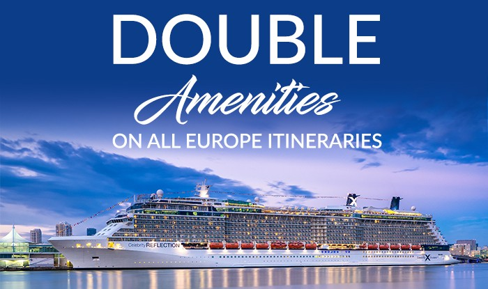 EUROPE CRUISE SALE - DOUBLE DISCOUNT, DOUBLE AMENITIES & DOUBLE CASH BACK