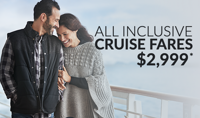 Fares Increase Jan 1- Book Now Your Cruise for the Best Value