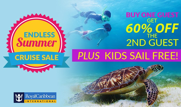 FIRST TIME EVER 60% OFF SECOND GUEST & KIDS SAIL FREE