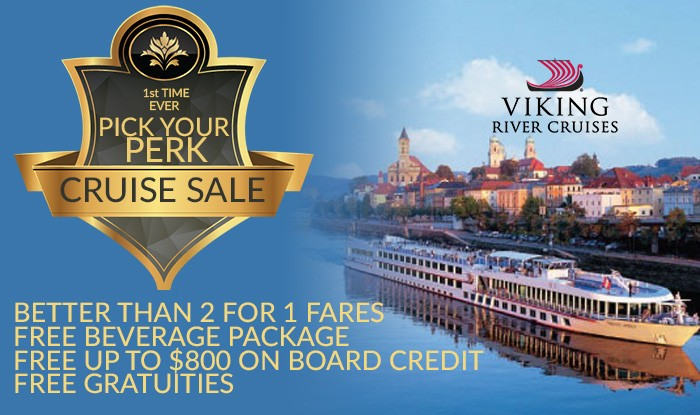 FIRST TIME EVER: PICK YOUR PERK ON ALL VIKING RIVER CRUISE ITINERARIES