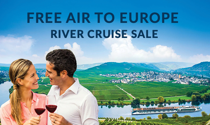 Free Air to Europe! River Cruise Sale