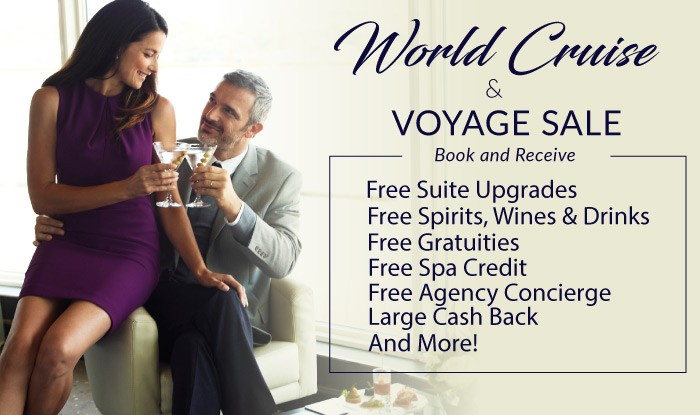 Free Cruise Gifts on your next World Voyage