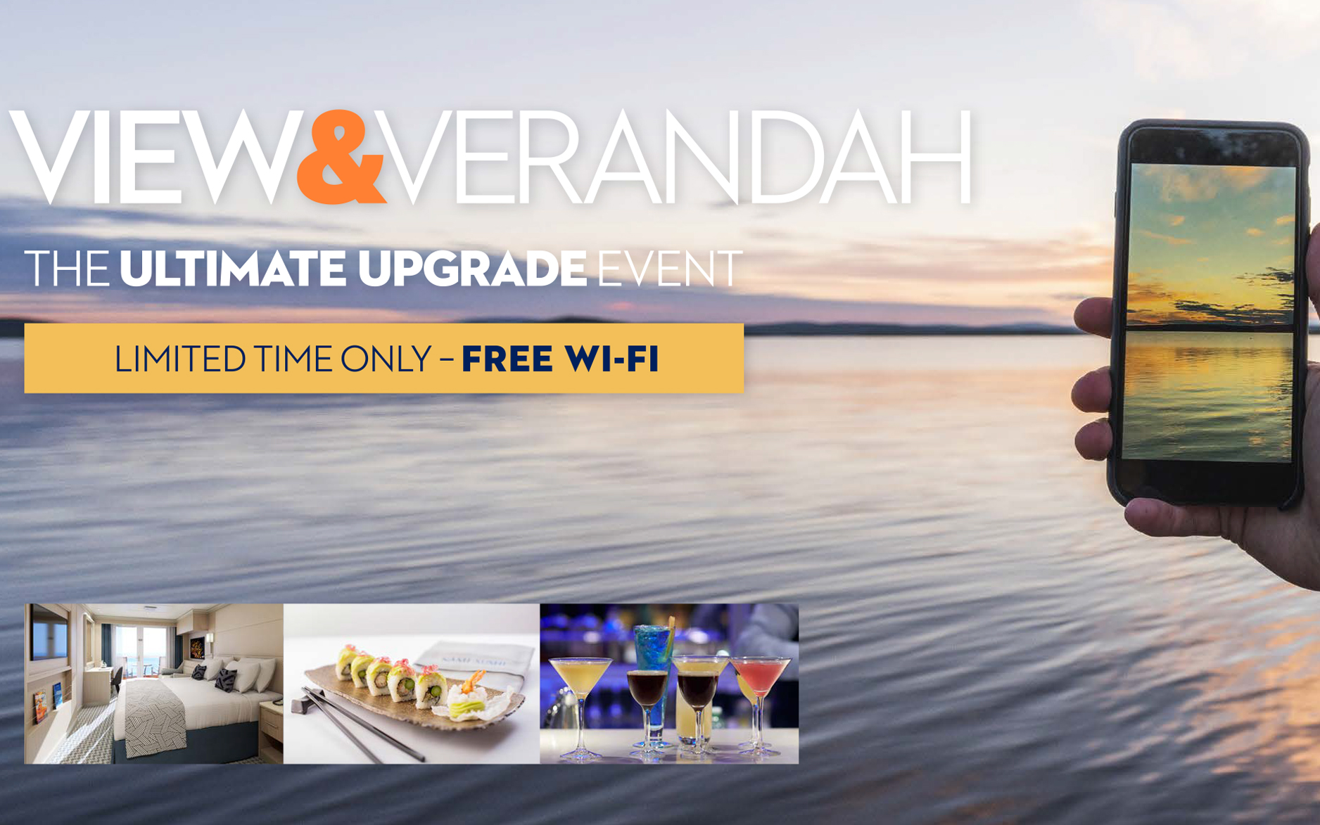 Holland America - Big Stateroom Upgrades, Drink Package & FREE WIFI!