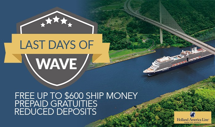 Holland America Line Last Days of Wave Sale