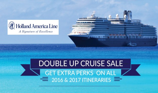 Holland America's Anniversary Sale + Double Amenities