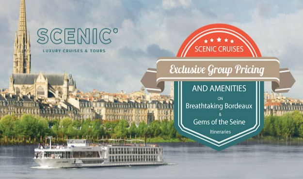 INSIDER DEAL! EXCLUSIVE GROUP FARES & AMENITIES ON SCENIC CRUISES ITINERARIES